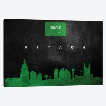 Riyadh Saudi Arabia Skyline Canvas Print #ABV293} by Adrian Baldovino Canvas Art