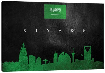 Riyadh Saudi Arabia Skyline Canvas Art Print