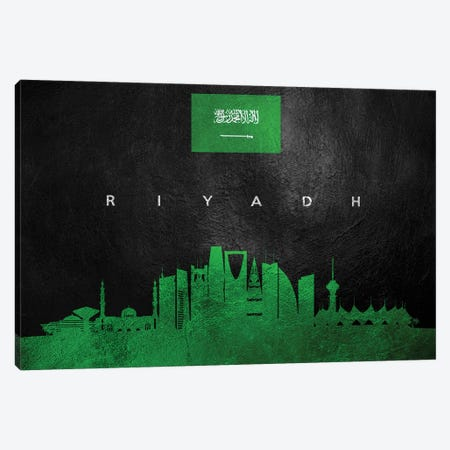 Riyadh Saudi Arabia Skyline II Canvas Print #ABV294} by Adrian Baldovino Canvas Print
