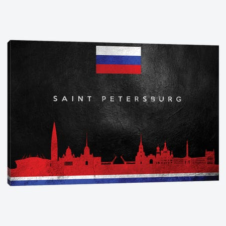 Saint Petersburg Russia Skyline Canvas Print #ABV295} by Adrian Baldovino Art Print