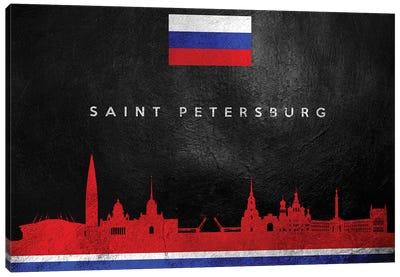 Saint Petersburg Russia Skyline Canvas Art Print