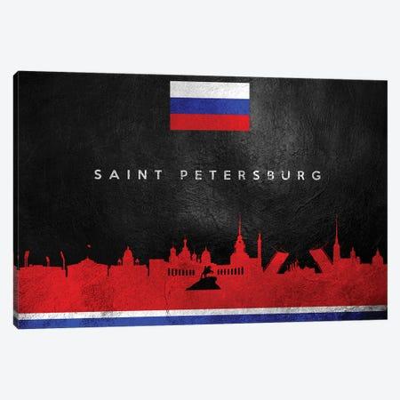 Saint Petersburg Russia Skyline II Canvas Print #ABV296} by Adrian Baldovino Canvas Art Print