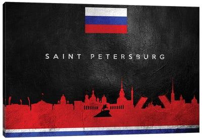 Saint Petersburg Russia Skyline II Canvas Art Print