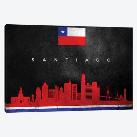 Santiago Chile Skyline Canvas Print #ABV298} by Adrian Baldovino Canvas Art