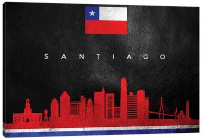 Santiago Chile Skyline Canvas Art Print