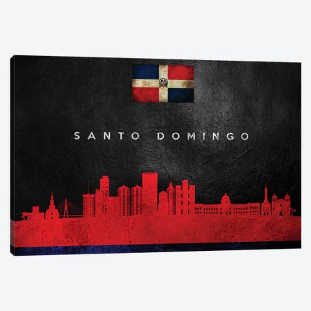 Santo Domingo Dominican Republic Skyline Canvas Print #ABV299} by Adrian Baldovino Canvas Art