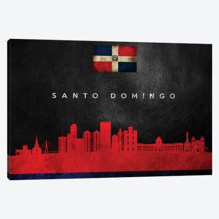Santo Domingo Dominican Republic Skyline Canvas Print #ABV299} by Adrian Baldovino Canvas Art