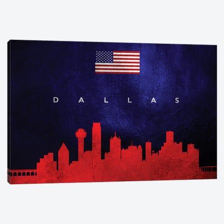 Dallas Texas Skyline Canvas Print #ABV29} by Adrian Baldovino Canvas Art
