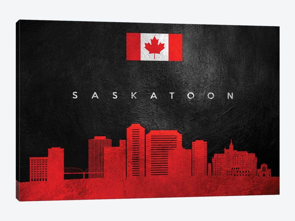 Saskatoon Canada Skyline II by Adrian Baldovino 1-piece Canvas Art Print