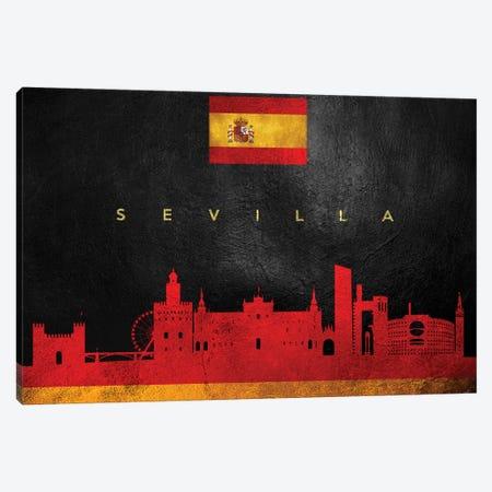 Sevilla Spain Skyline Canvas Print #ABV302} by Adrian Baldovino Canvas Artwork
