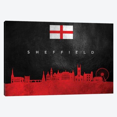 Sheffield England Skyline Canvas Print #ABV303} by Adrian Baldovino Canvas Art