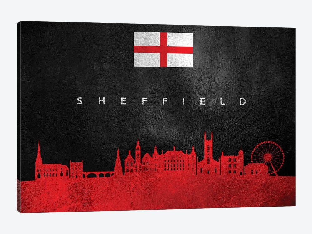 Sheffield England Skyline by Adrian Baldovino 1-piece Canvas Print