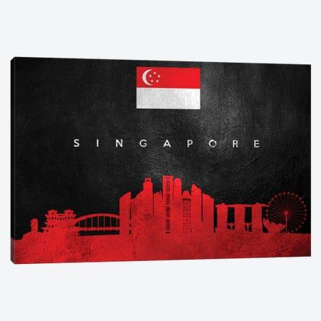 Singapore Skyline Canvas Print #ABV304} by Adrian Baldovino Canvas Print