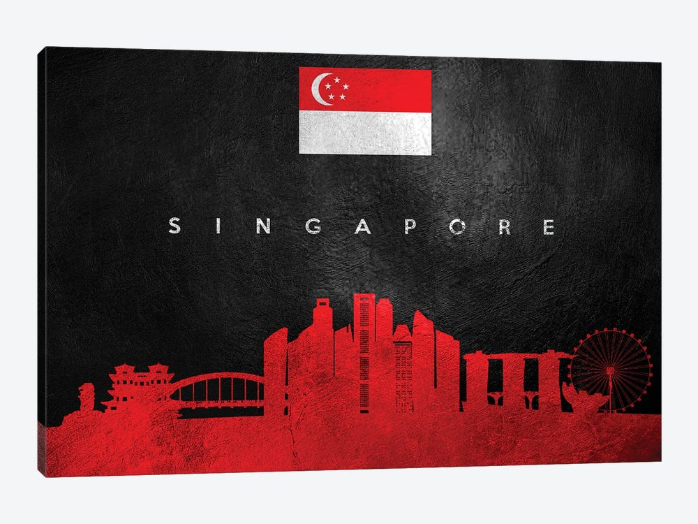 Singapore Skyline by Adrian Baldovino 1-piece Canvas Art