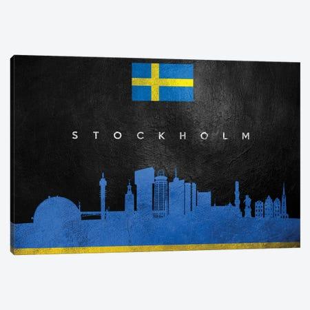 Stockholm Sweden Skyline Canvas Print #ABV306} by Adrian Baldovino Art Print