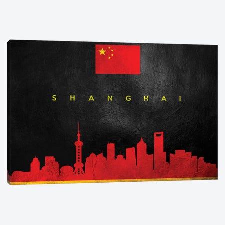 Shanghai China Skyline II Canvas Print #ABV307} by Adrian Baldovino Canvas Art Print