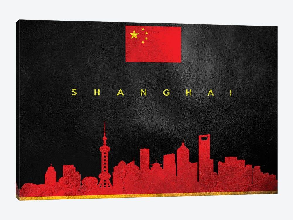 Shanghai China Skyline II by Adrian Baldovino 1-piece Canvas Print