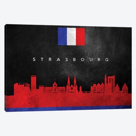 Strasbourg France Skyline Canvas Print #ABV308} by Adrian Baldovino Canvas Wall Art