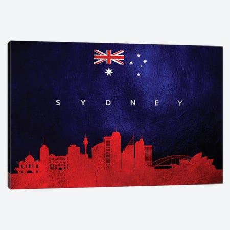 Sydney Australia Skyline Canvas Print #ABV309} by Adrian Baldovino Canvas Art