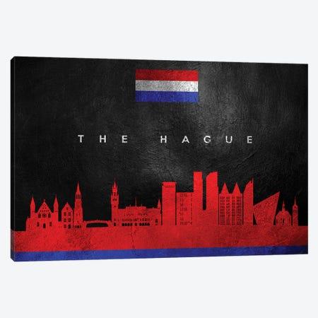 The Hague Netherlands Skyline Canvas Print #ABV313} by Adrian Baldovino Art Print