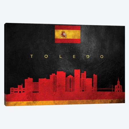 Toledo Spain Skyline Canvas Print #ABV316} by Adrian Baldovino Canvas Wall Art