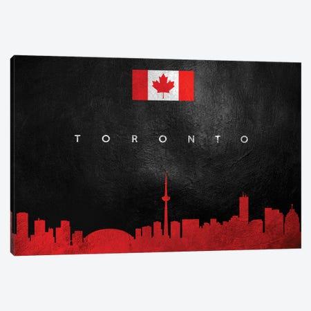 Toronto Canada Skyline Canvas Print #ABV317} by Adrian Baldovino Canvas Artwork