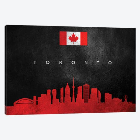 Toronto Canada Skyline II Canvas Print #ABV318} by Adrian Baldovino Canvas Print