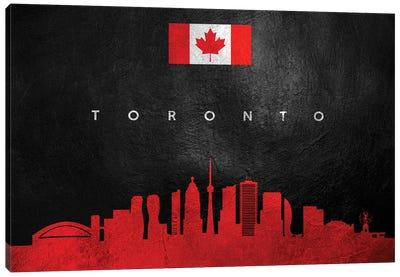 Toronto Canada Skyline II Canvas Art Print