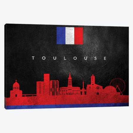 Toulouse France Skyline Canvas Print #ABV319} by Adrian Baldovino Canvas Print