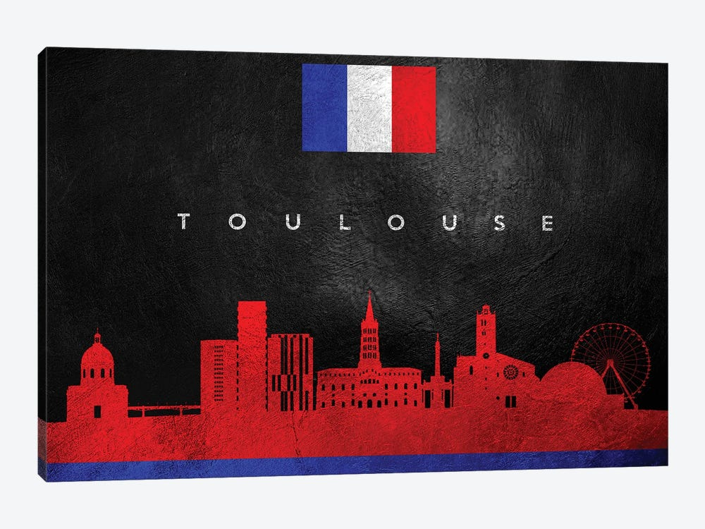 Toulouse France Skyline by Adrian Baldovino 1-piece Canvas Art