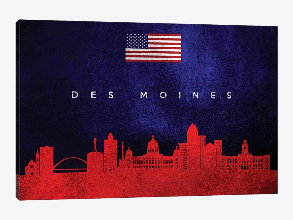 Des Moines Iowa Skyline by Adrian Baldovino 1-piece Canvas Art Print