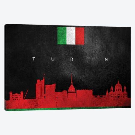 Turin Italy Skyline Canvas Print #ABV320} by Adrian Baldovino Canvas Art