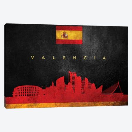 Valencia Spain Skyline Canvas Print #ABV321} by Adrian Baldovino Canvas Artwork