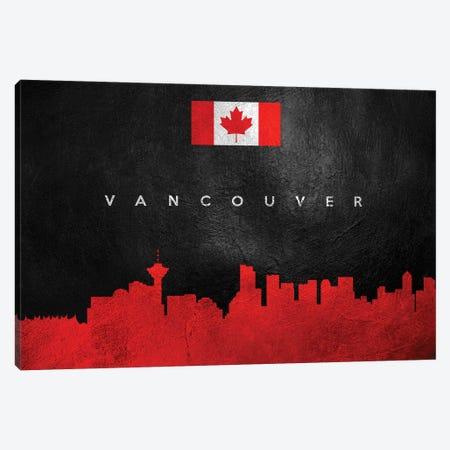 Vancouver Canada Skyline Canvas Print #ABV322} by Adrian Baldovino Canvas Art