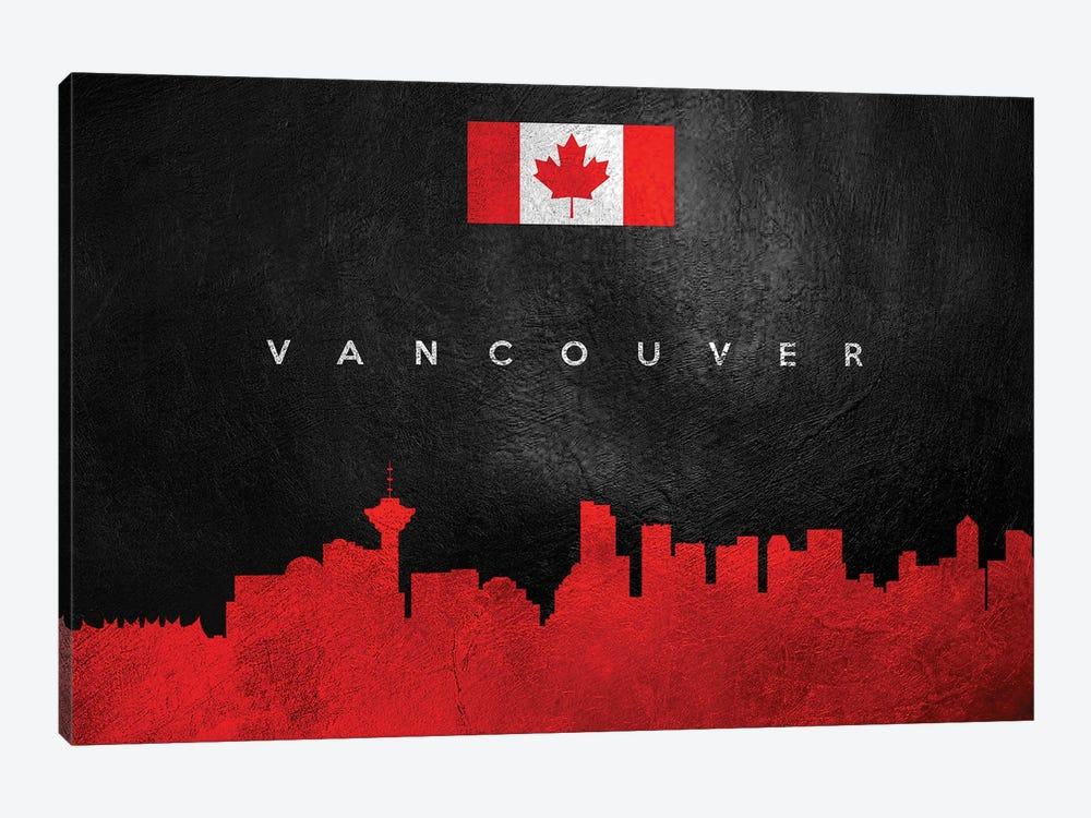 Vancouver Canada Skyline by Adrian Baldovino 1-piece Canvas Art