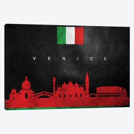 Venice Italy Skyline Canvas Print #ABV323} by Adrian Baldovino Canvas Wall Art