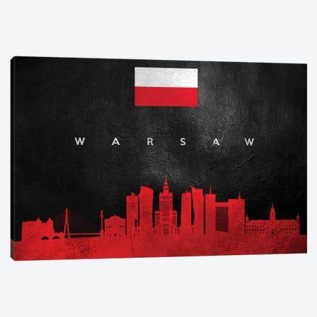 Warsaw Poland Skyline Canvas Print #ABV324} by Adrian Baldovino Art Print