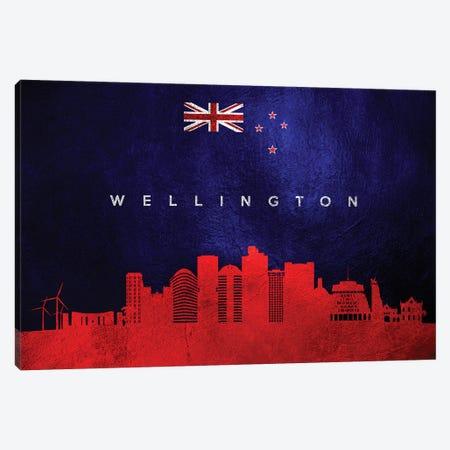Wellington New Zealand Skyline Canvas Print #ABV325} by Adrian Baldovino Art Print