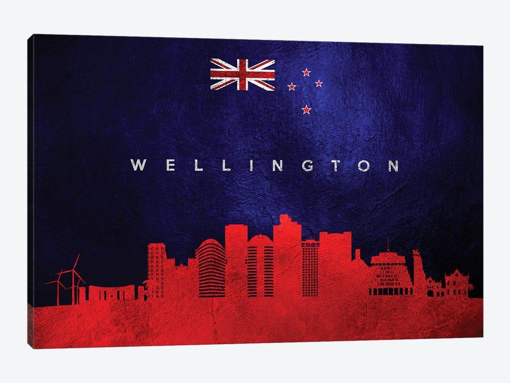 Wellington New Zealand Skyline by Adrian Baldovino 1-piece Canvas Print