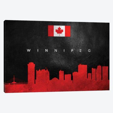 Winnipeg Canada Skyline Canvas Print #ABV326} by Adrian Baldovino Canvas Art Print