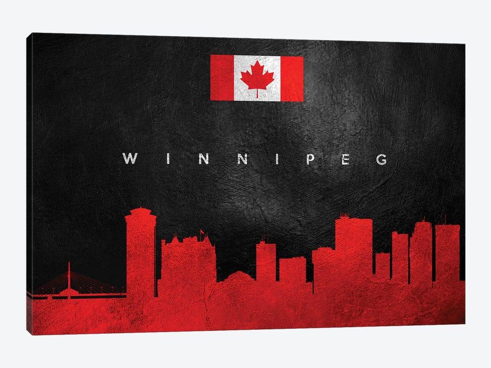 Winnipeg Canada Skyline by Adrian Baldovino 1-piece Canvas Artwork