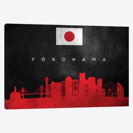 Yokohama Japan Skyline Canvas Print #ABV327} by Adrian Baldovino Art Print