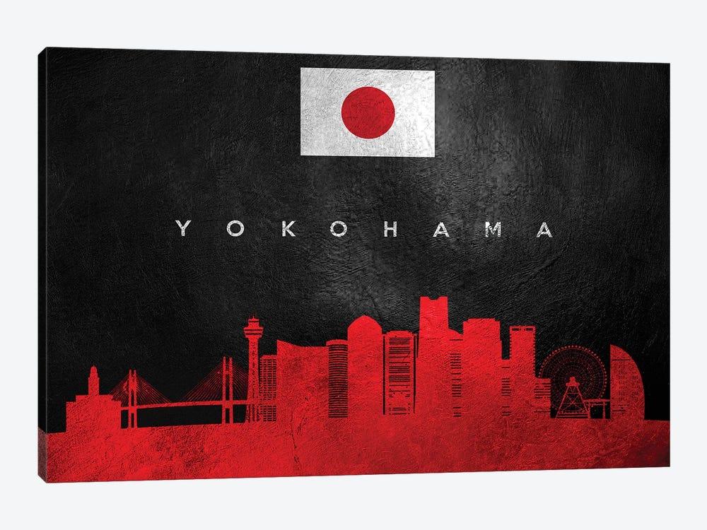 Yokohama Japan Skyline by Adrian Baldovino 1-piece Art Print