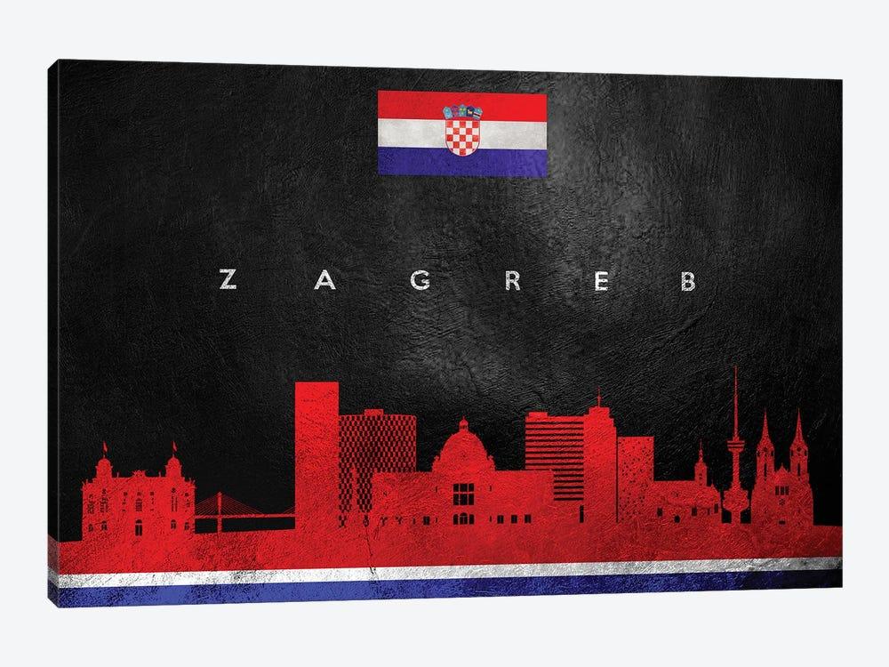 Zagreb Croatia Skyline by Adrian Baldovino 1-piece Canvas Art