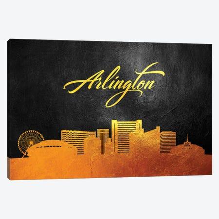 Arlington Texas Gold Skyline Canvas Print #ABV332} by Adrian Baldovino Canvas Print