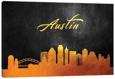 Austin Texas Gold Skyline Canvas Art Print