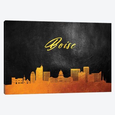 Boise Idaho Gold Skyline Canvas Print #ABV337} by Adrian Baldovino Canvas Wall Art