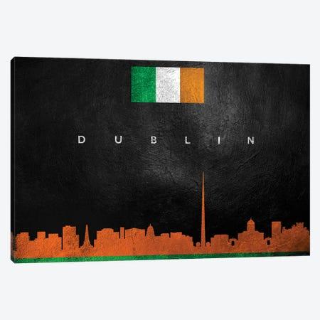 Dublin Ireland Skyline Canvas Print #ABV33} by Adrian Baldovino Art Print
