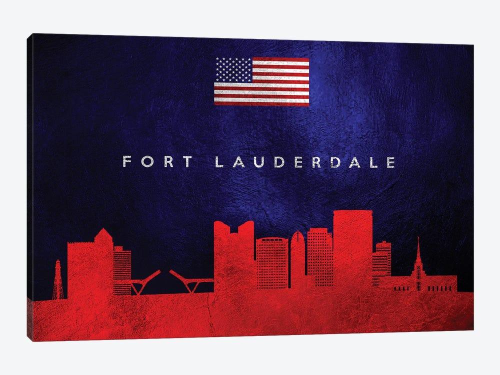 Fort Lauderdale Florida Skyline by Adrian Baldovino 1-piece Canvas Wall Art