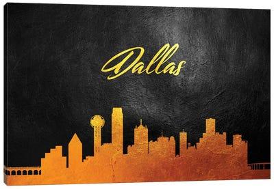 Dallas Texas Gold Skyline Canvas Art Print
